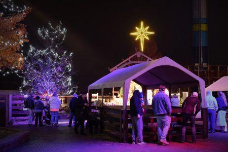 Nativity petting zoo at Kings dominion amusement park